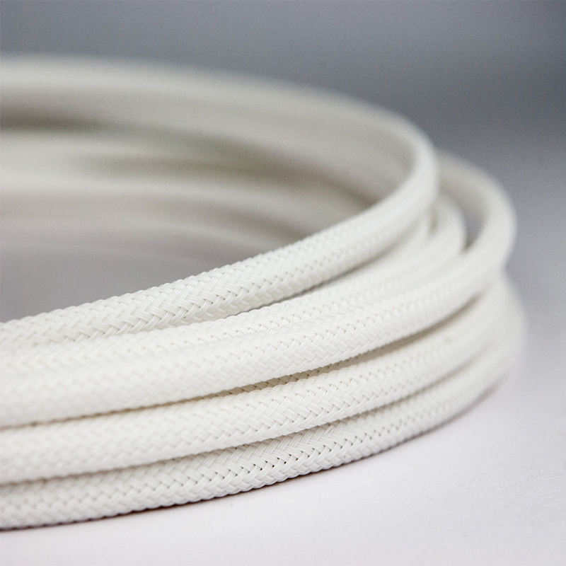 High Density PET White Braided Expandable Sleeving