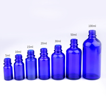 5ml 10ml 15ml 20ml 30ml 50ml 100ml round blue color glass bottle for essential oil with screw cap