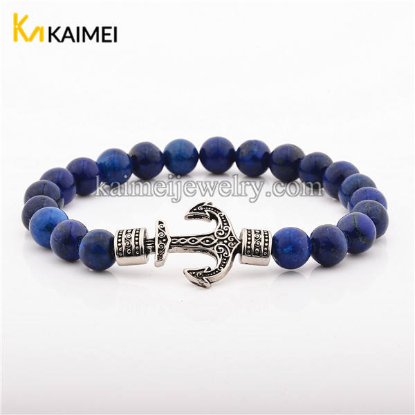 Wholesale Fashion Nautical Anchor Charms Bead Bracelet Jewelry
