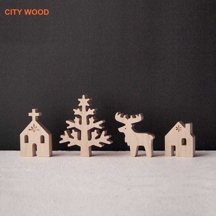<span class=keywords><strong>Bois</strong></span> ensemble de cadeau De Noël décoration De Noël