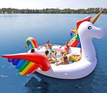 hot selling inflatable pegasus pool floats island party inflatable flying horse  water pool toys for sale