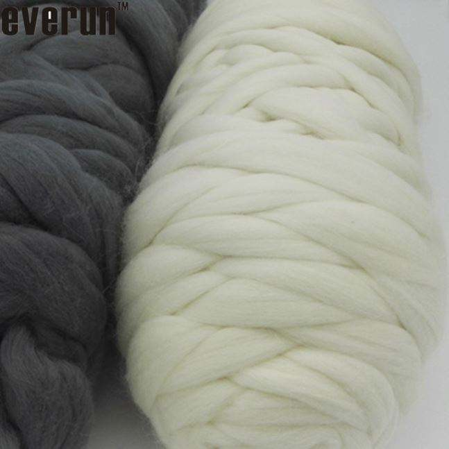 in stock giant super chunky knitted 120 merino wool bulky yarn for hand knitting of throw,blanket with photo