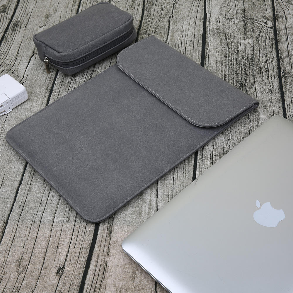 Grosir Tas Laptop Praktis Tahan Air Kulit Notebook Case Casing untuk Mac Book Air/Pro 11 12 13 15 Inch Fashion laptop Sleeve