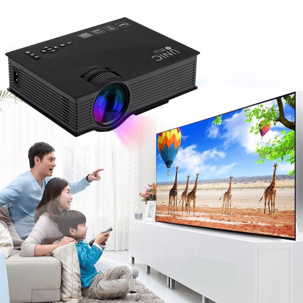 UC46 Mini Portable LED Projector Home Theater 1200Lumens 2.4G WIFI HDM AV USB
