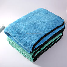 1200gsm High Quality Car Wash Detailing Quick Drying Microfiber Towel With bordered edge