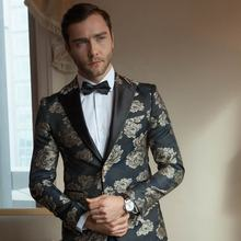 Blazer mens custom tailor suits jacquard suite for men