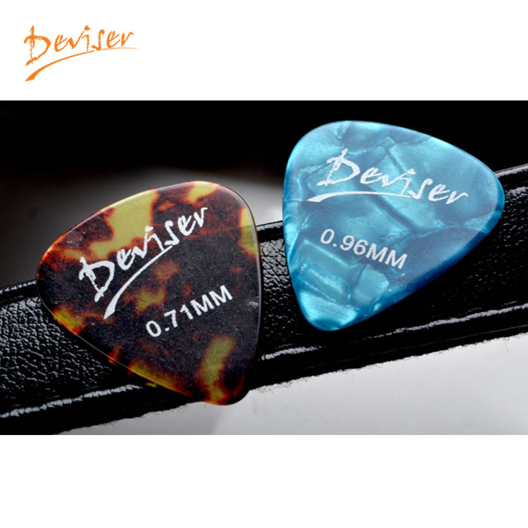 Wholesale price cool 0.46mm stylish colorful celluloid guitar picks