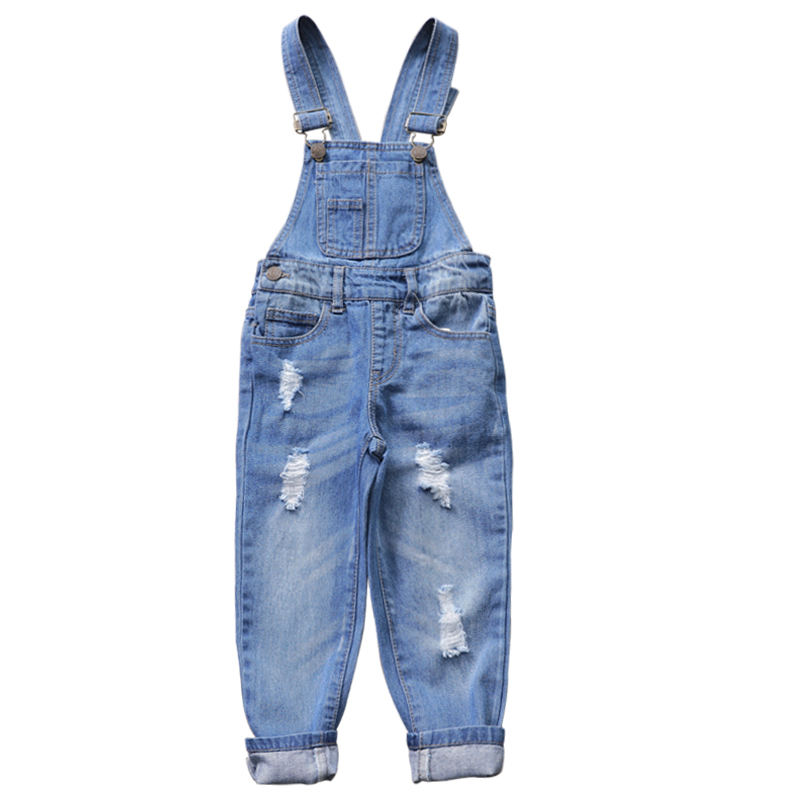 Latest cute kids jeans fashion denim overalls pants girls