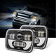 Auto Square Lights High Low Beam Angel Eye Headlight 12V 24V Truck Lite 4X6 Led Car Headlight