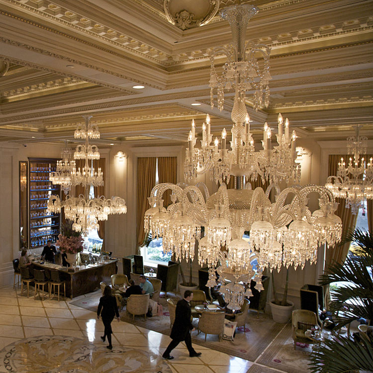 Traditional decorative luxurious baccarat chandelier for the hotel
