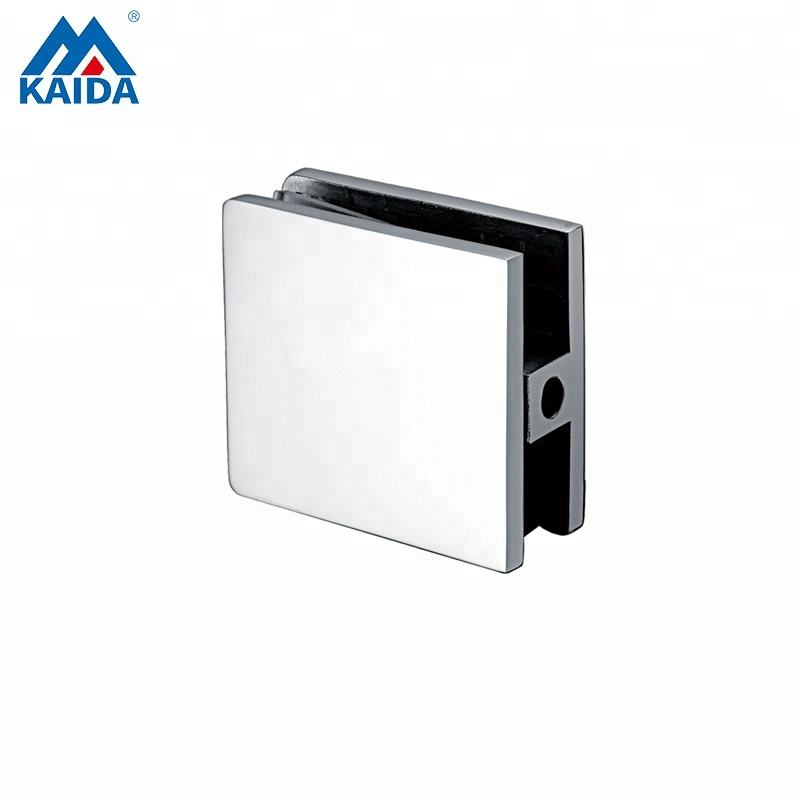 stainless steel bottom floor glass fixing clamps for shower enclosure with right angle
