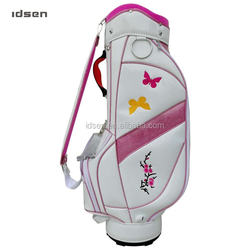 China manufacture custom golf clubs bag stand leather for lady