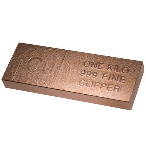 Custom-made Copper Square Bar 99.999% 5N Cu one kilogram per piece