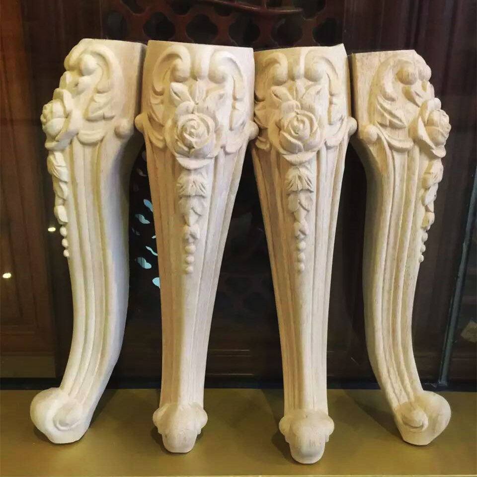Carved Antique Wooden Table Furniture Legs