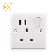 Electrical power 220v wall socket outlet with 2 USB port