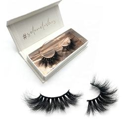 Dramatic long cruelty free 3d mink lashes 25 mm mink eyelashes
