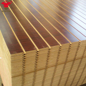 Decorative grooved mdf board slatwall panels supply Red Kapok