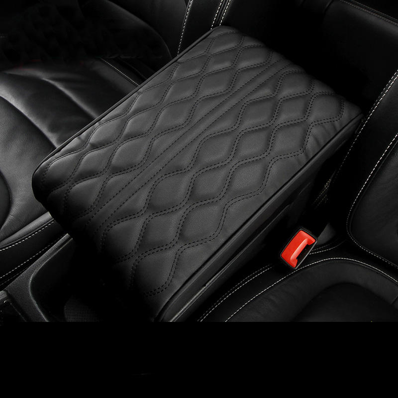 Leather Sewing Car Armrest Pad Cushion Covers Auto Center Console Seat Armrests Box Protection Hand Supports