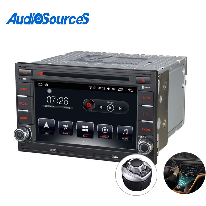 Audiosources auto gps multimedia navigator 2 din android auto radio für vw transporter t5