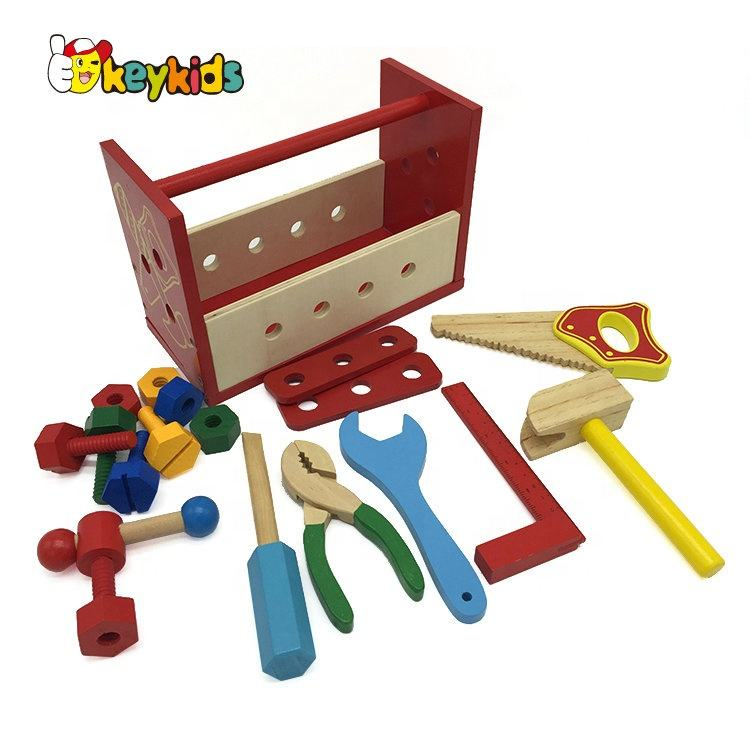 Top sale woodworking toy wooden kids tool box for preschool W03D121