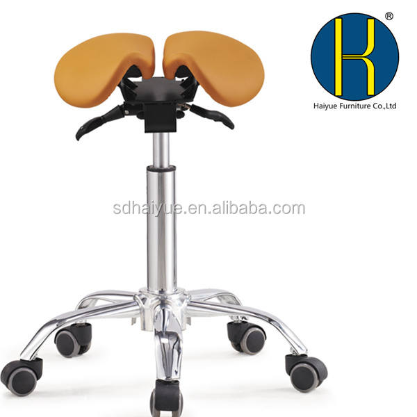 Dynamic Twin Saddle Seat Stool Dental Chair Split-Saddle Stool Type and Electricity Power Source Chinese Dental Chair