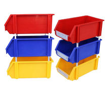 Economy stacking industrial colorful small parts pp plastic tool bin