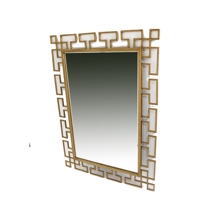 Factory Supply Antique Ornamental gold framed mirror