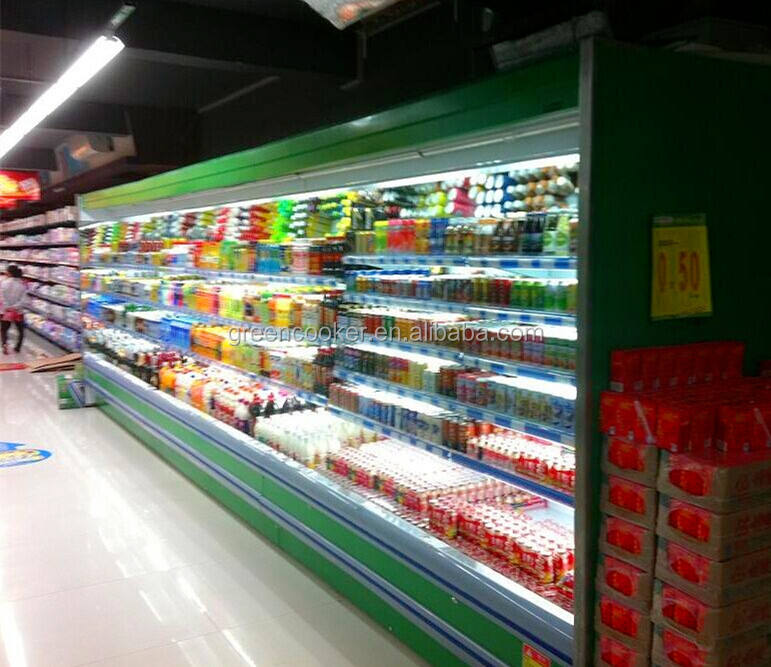 Open display cooler supermarket produce coolers