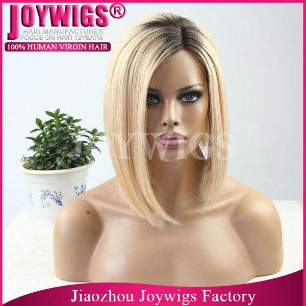 Joywigs nouvelle arrivée personnalisé brésilienne cheveux <span class=keywords><strong>rihanna</strong></span> 1b / 613 # blonde ombre pleine perruque de dentelle