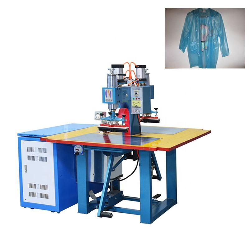 double head high frequency pvc welding machine for making raincoat, PVC welding