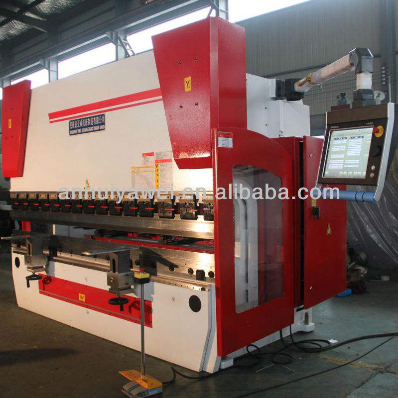 Anhui Yawei CNC Press Brake, CNC Hydraulic Plate Bending Machine, Metal Sheet Bender YWB-63T2500, 100T3200, 160T4000, 500T6000