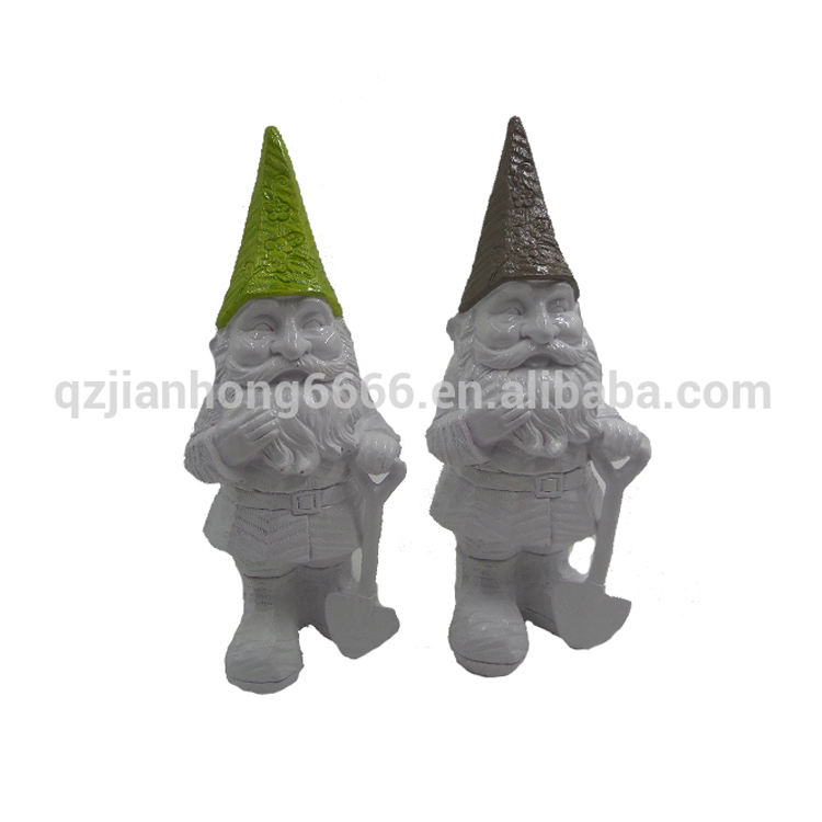 Wholesale Unpainted Garden Figurines Gift Polyresin Gnomes