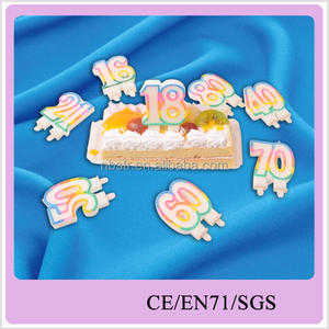 decorative number cake candle