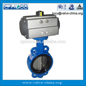 ISO,GB,JIS Marine Centric Wafer Type Gear And Pneumatic Double Acting Operated Butterfly Valve