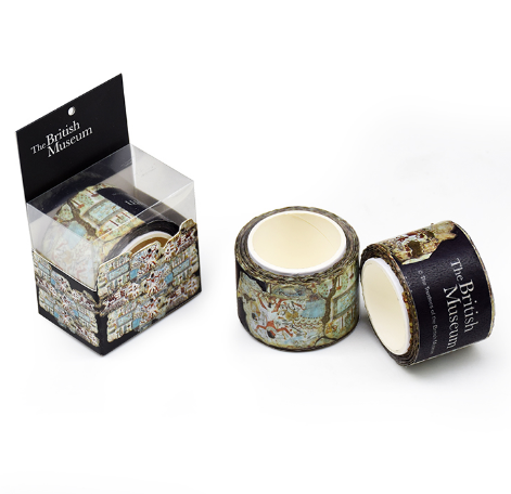 British Museum decorative flower foil waterproof printed sticky washi tape custom