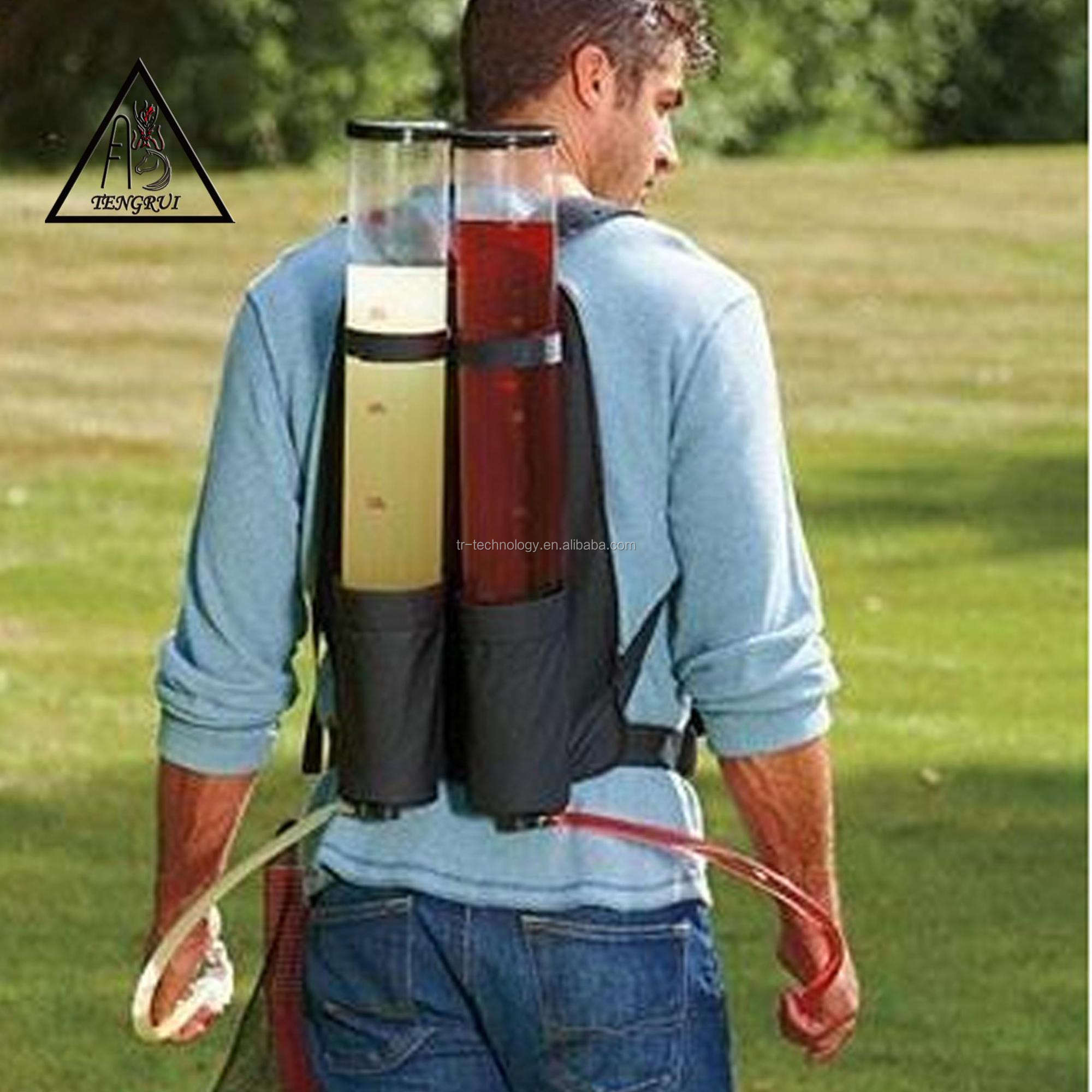 Hiking Camping Backpack soft drink/liquor pump dispenser with ice tube for party