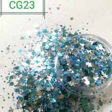 Sparkle mixes polyester star, hexagon glitter powder for manufacturer