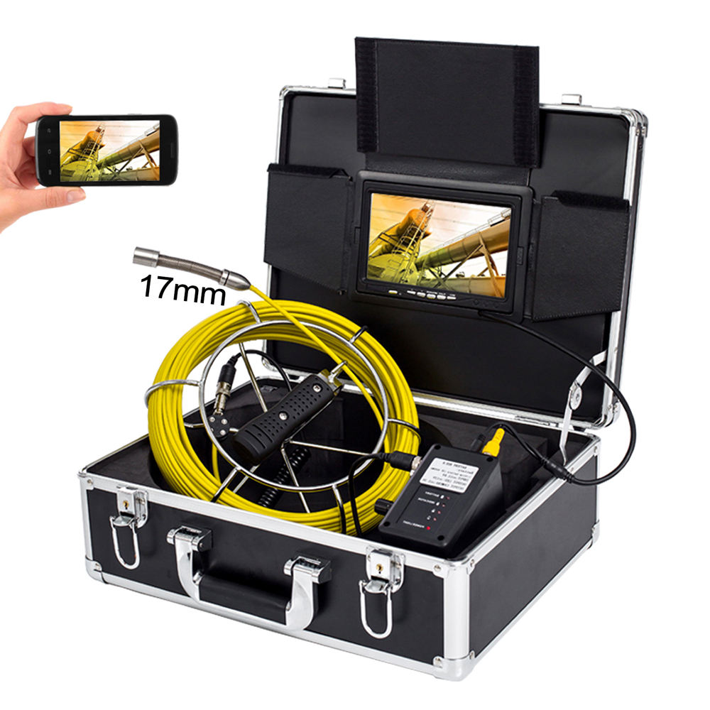 Industrial CCTV Sewer Air Cleaning Soil Pipeline Camera with Stainless Steel Housing