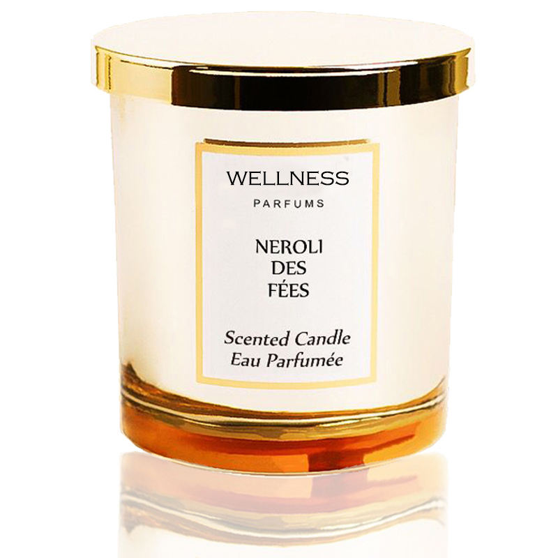 custom high end scented soy candle in glass jar