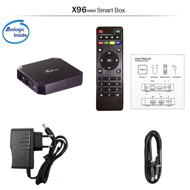 2019 Amazon Top Seller X96 Mini 1 GB 8 GB Udara Mouse Amlogic S905W 4K Android 7.1 7.0 Internet TV Set Top Box