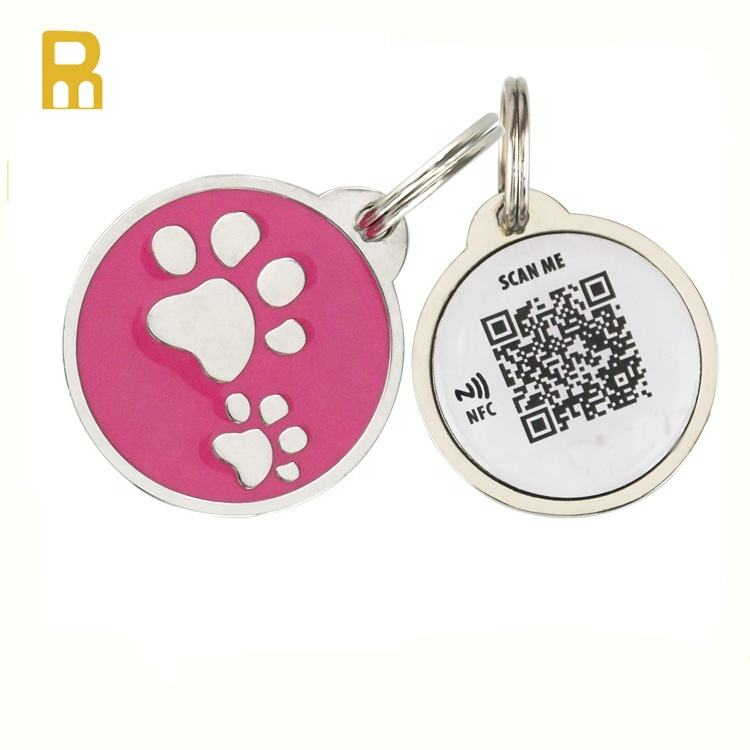 NFC Dog Tag ID Number Pet Tag QR Code Barcode Rfid Pet ID Tag