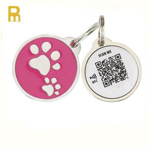 NFC Dog Tag ID Number Pet Tag QR Code Barcode Rfid Pet ID Tag