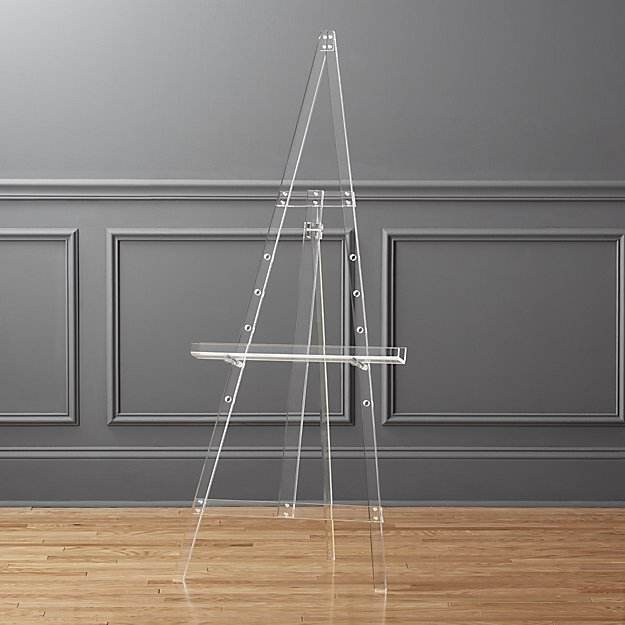 transparent acrylic floor stand easel display stand wholesale