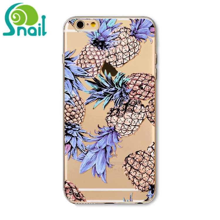 Armor Hard Soft TPU Case Voor Samsung Galaxy S9 S10 plus ananas citroen patroon