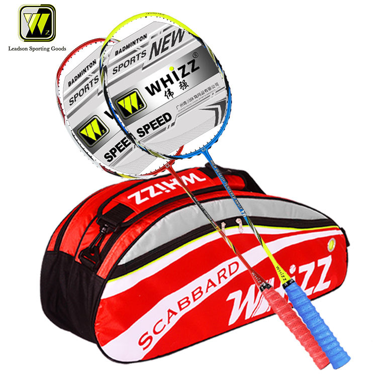 WHIZZ y5y6 Custom Full Carbon Fiber Badminton Racket Set