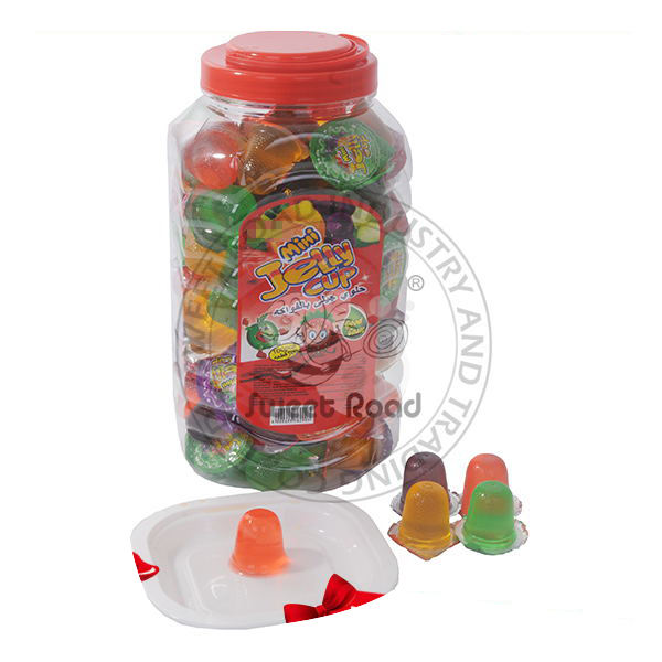 Halal Mini Fruit Jelly Pudding Cup in Square Jar