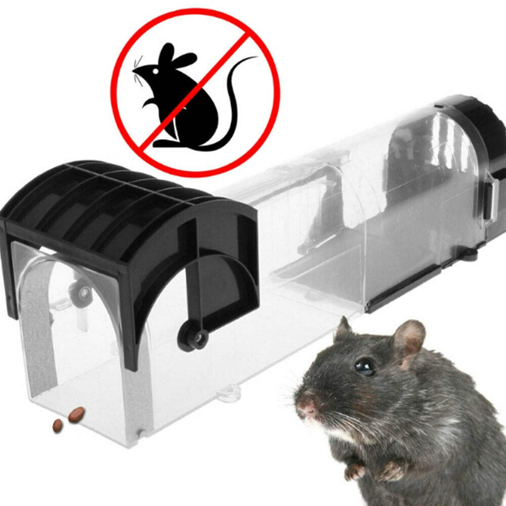 The Clever No Kill Pest Control Plastic Live Mice Cage Rat Catcher Humane Automatic Mouse Tunnel Trap Rat Cage