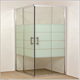 China Factory Square Free standing Cheap Glass Shower Enclosure