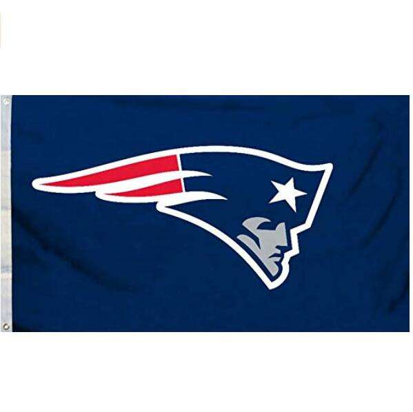 Custom 100% Polyester Nfl New England Patriots 3 'X 5' Team Vlag