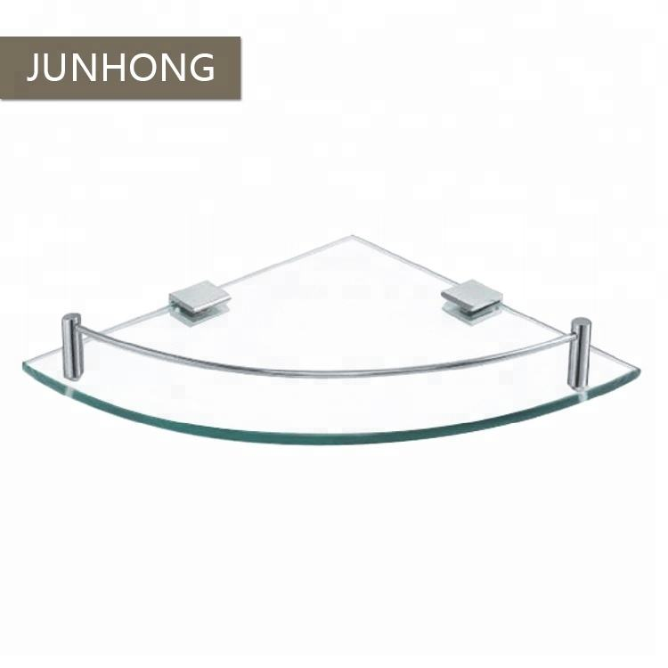 Bathroom accessories stainless steel glass shelf